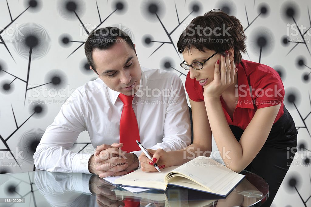 Business colleagues working royalty-free stock photo