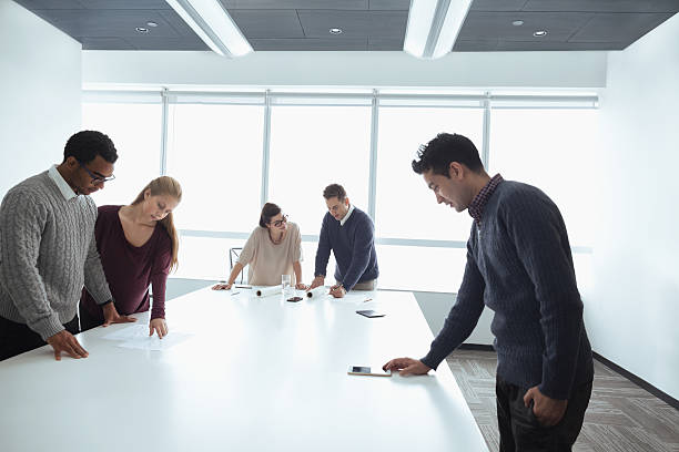 Business colleagues working together in meeting room – Foto