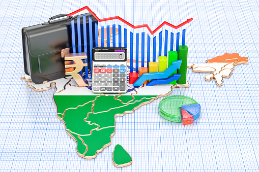 istock Business, commerce and finance in India concept, 3D rendering 908742204