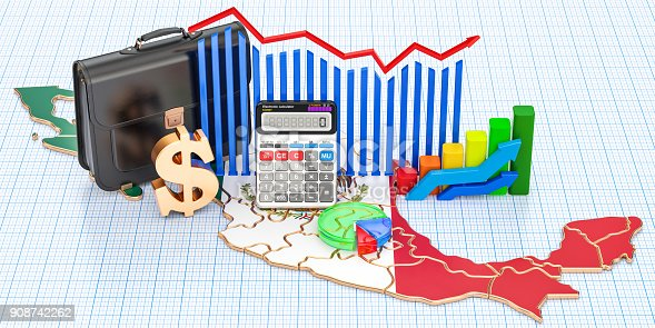 istock Business, commerce and finance in Mexico concept, 3D rendering 908742262