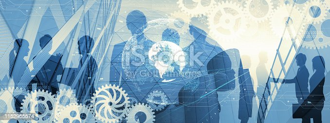 685409482istockphoto Business communication network concept. Group of businessperson. 1152955574