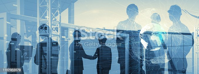 istock Business communication network concept. Group of businessperson. 1152955579