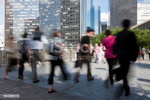 1146224410istockphoto Business Commuters Walking in Front of Office Buildings 184359415