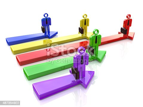 istock Business competition. Leader of competition. Concept. 3d illustr 487354922