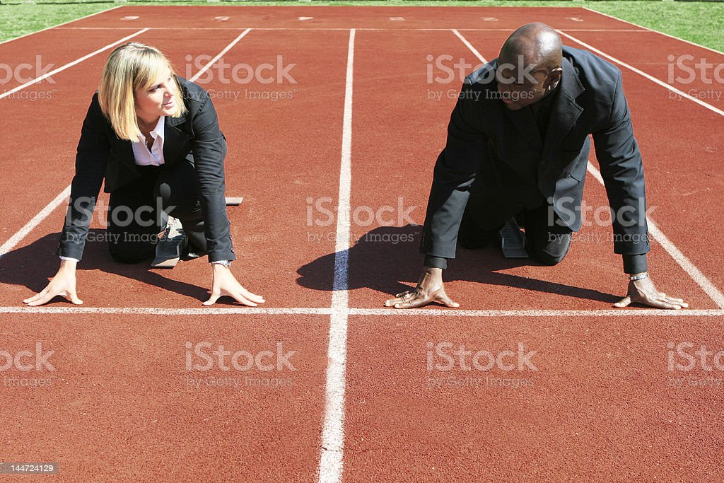 Business competition royalty-free stock photo