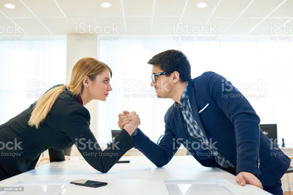 Business competitors stock photo