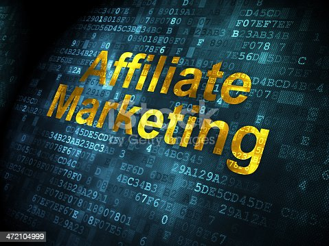 istock Business concept: Affiliate Marketing on digital background 472104999