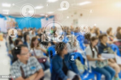 istock Business concept : asia people listen in business seminar presentation 645063728