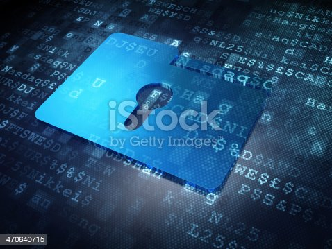 istock Business concept: Blue Folder With Keyhole on digital background 470640715