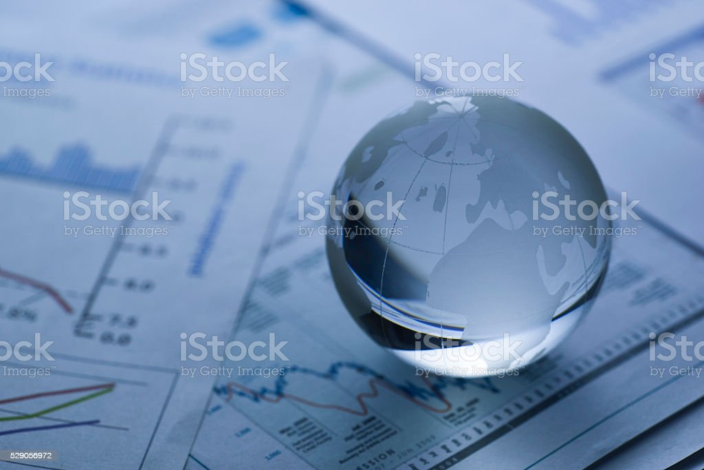 Business concept, blue tone stock photo