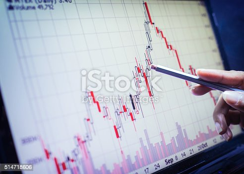 istock Business concept, Business graph analysis report. Accounting, Stock, Tone color 514718606