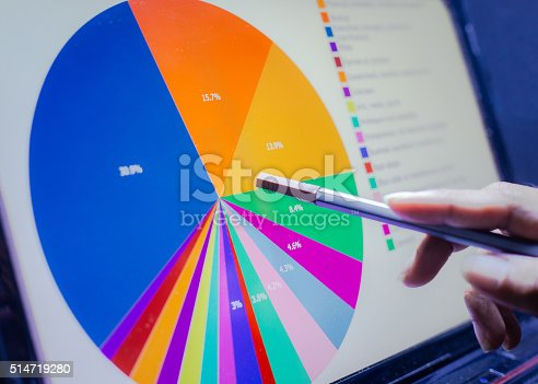istock Business concept, Business graph analysis report. Accounting, Stock, Tone color 514719280