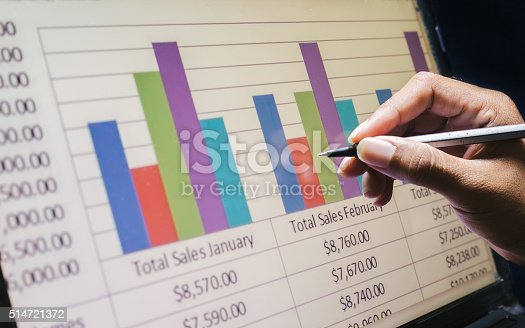 istock Business concept, Business graph analysis report. Accounting, Stock, Tone color 514721372