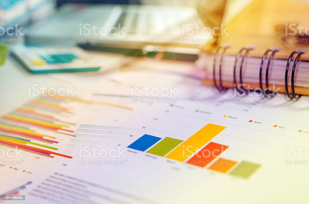 Business Concept charts stock photo