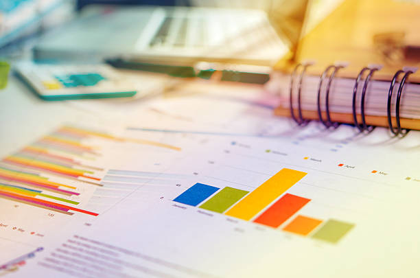 business concept charts - market research stock photos and pictures