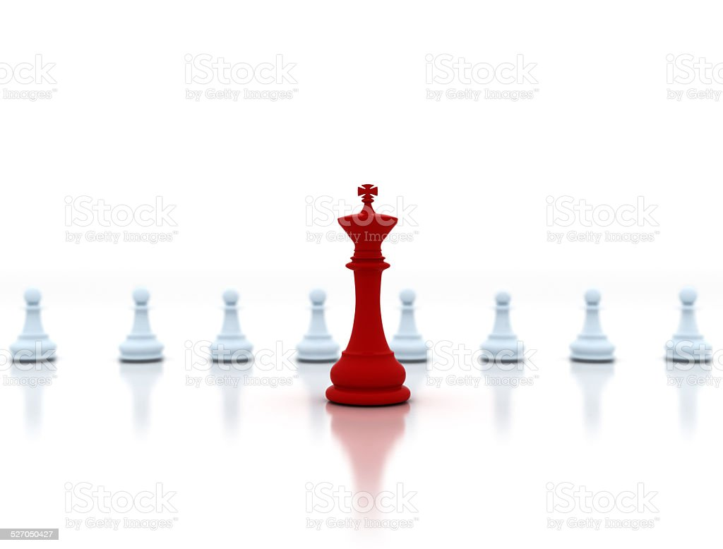 Business concept - chess players stock photo