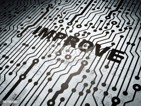 542587790 istock photo Business concept: circuit board with Improve 467354657