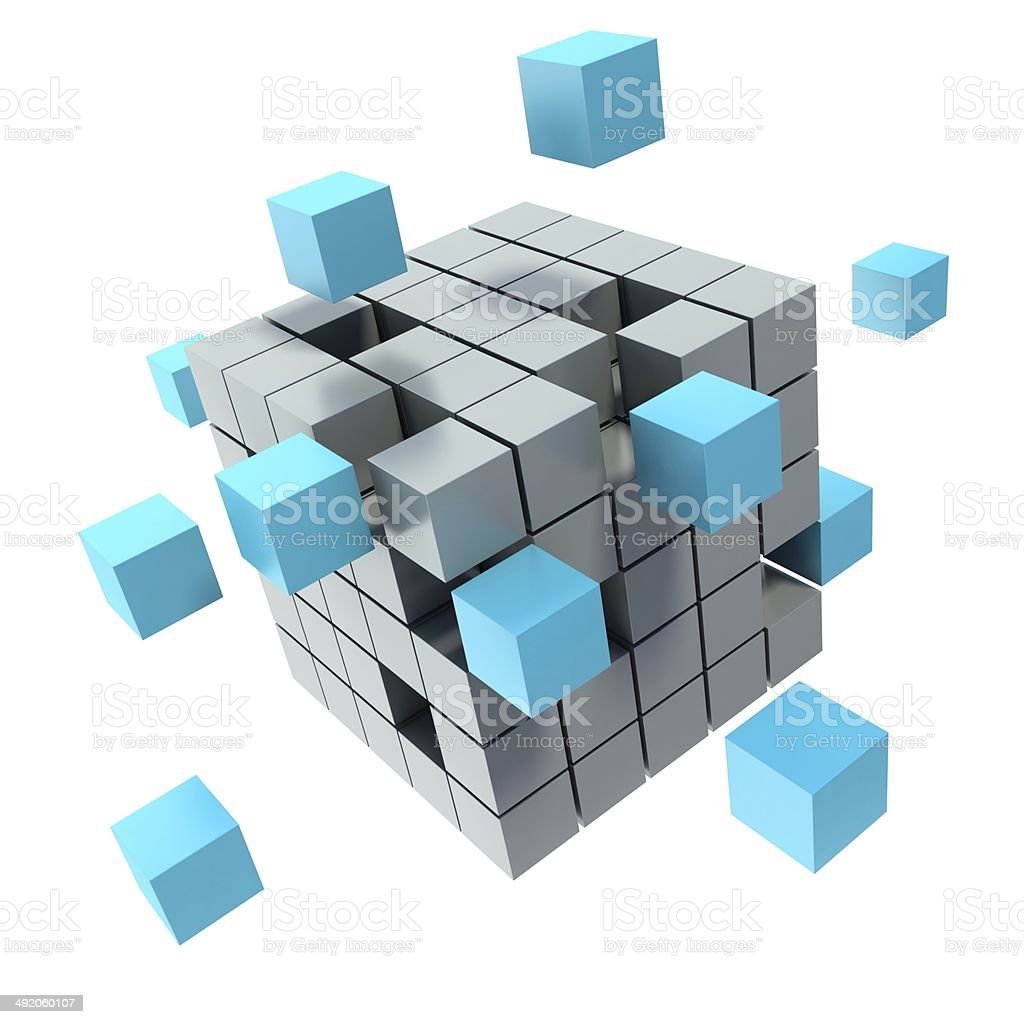 Business concept cube stock photo