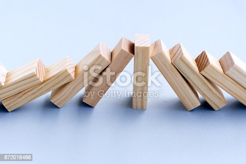 istock Business Concept Domino Effect 872018486