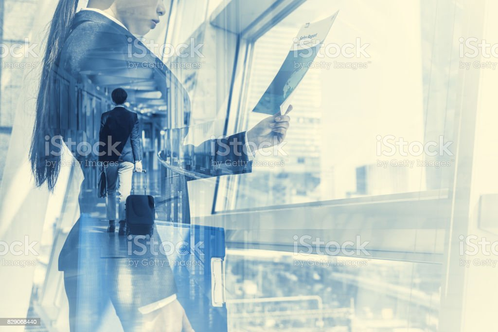 business concept. duo tone graphic. stock photo