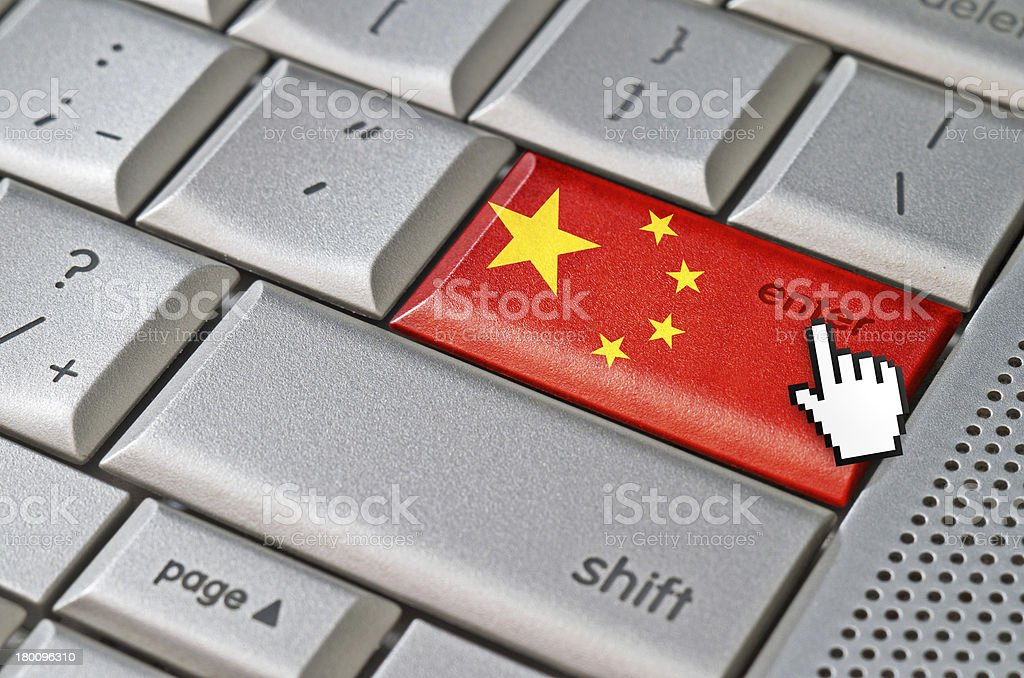 Business concept enter China royalty-free stock photo