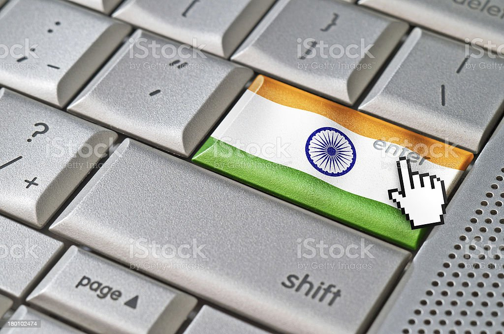 Business concept enter India royalty-free stock photo