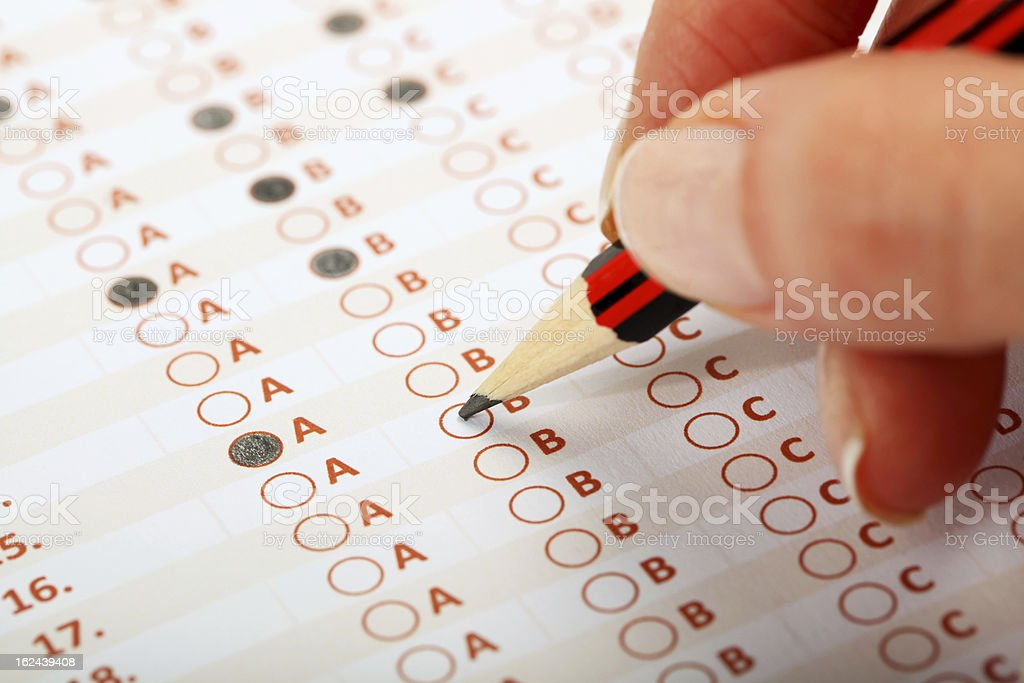 Business Concept - Exam stock photo