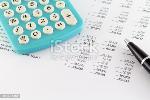 istock Business Concept: Financial Graph with Calculator 831411492