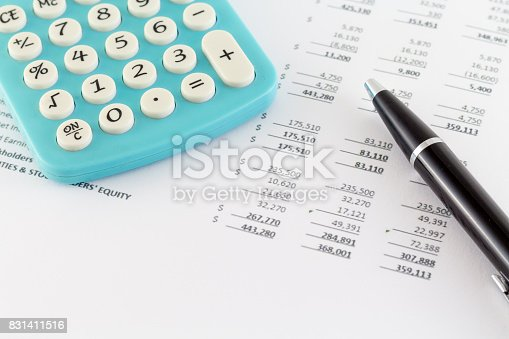 istock Business Concept: Financial Graph with Calculator 831411516