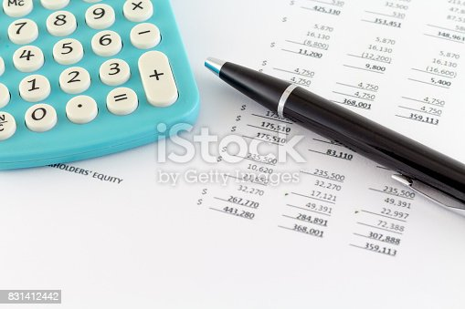 istock Business Concept: Financial Graph with Calculator 831412442