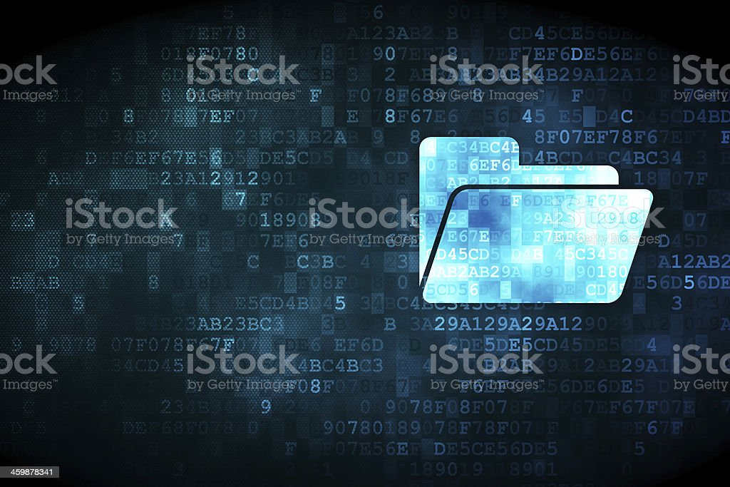Business concept: Folder on digital background stock photo