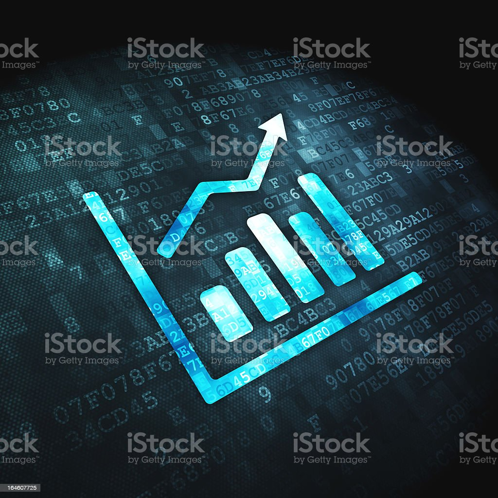 Business concept: Growth Graph on digital background royalty-free stock photo