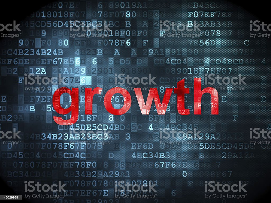 business concept: Growth on digital background royalty-free stock photo