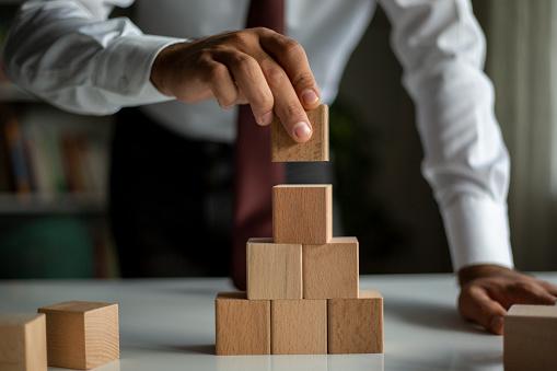 Business concept growth success process.