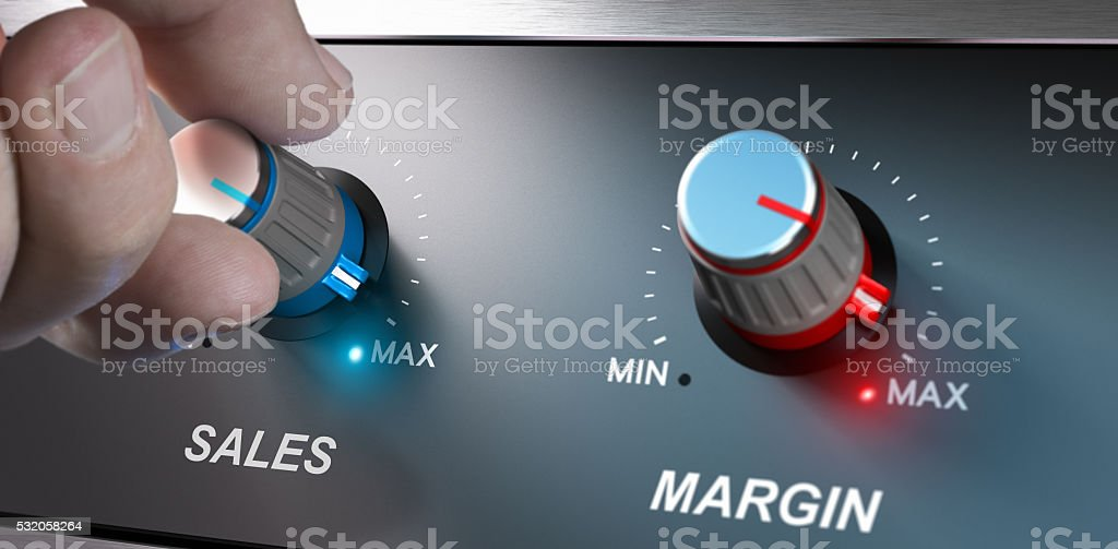 Business Concept, Increase Sales and Margin stock photo