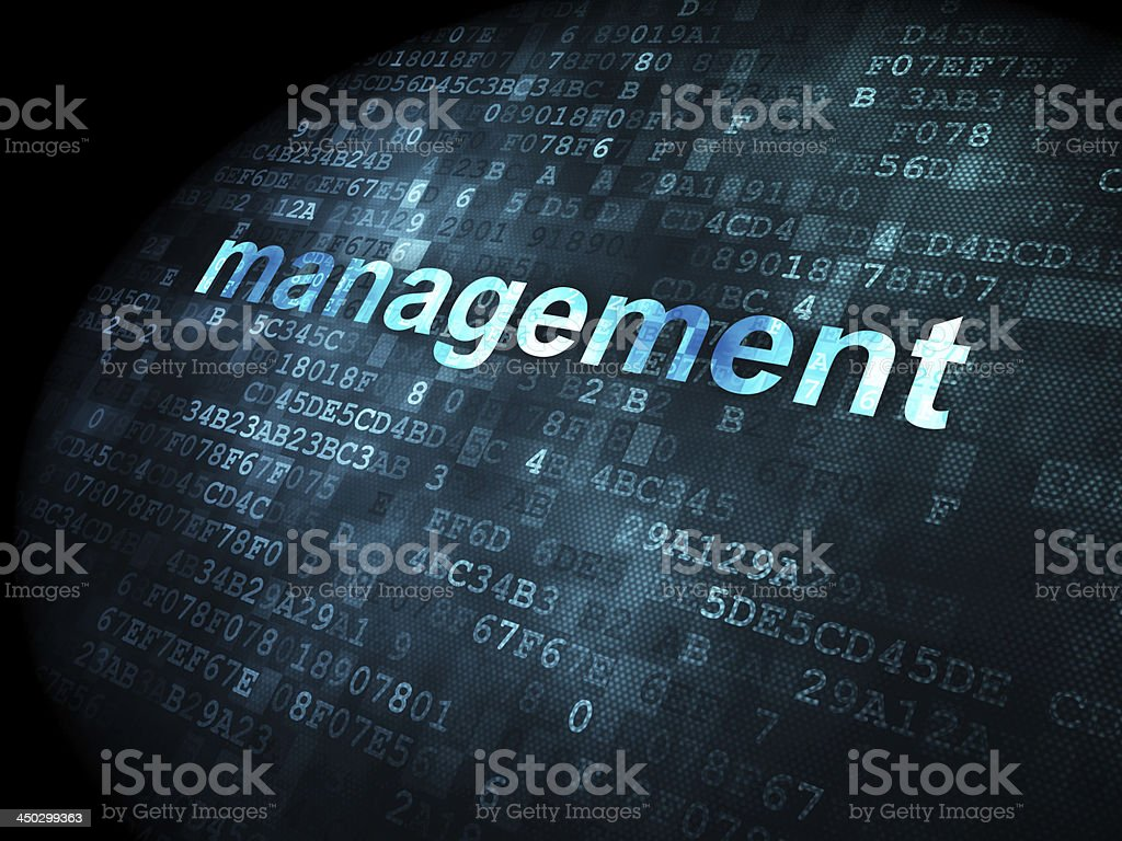 business concept: Management on digital background royalty-free stock photo