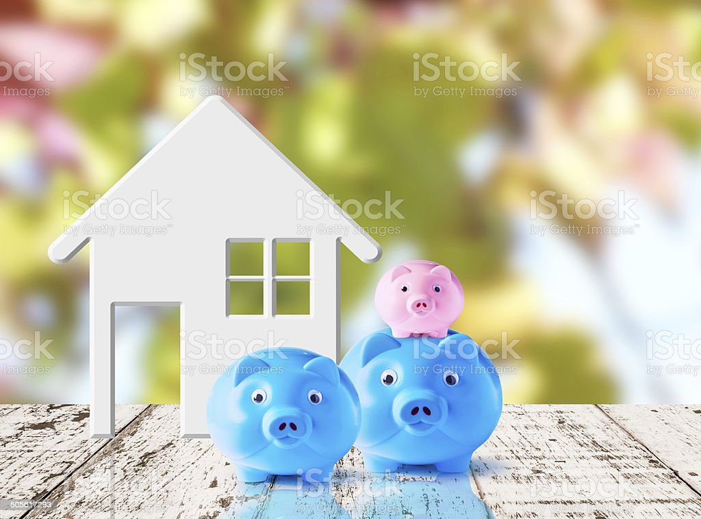 Business concept of saving for family stock photo