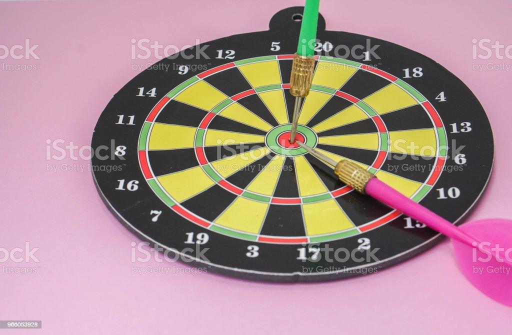 affärsidé för target hit för framgång - Royaltyfri Affärsstrategi Bildbanksbilder
