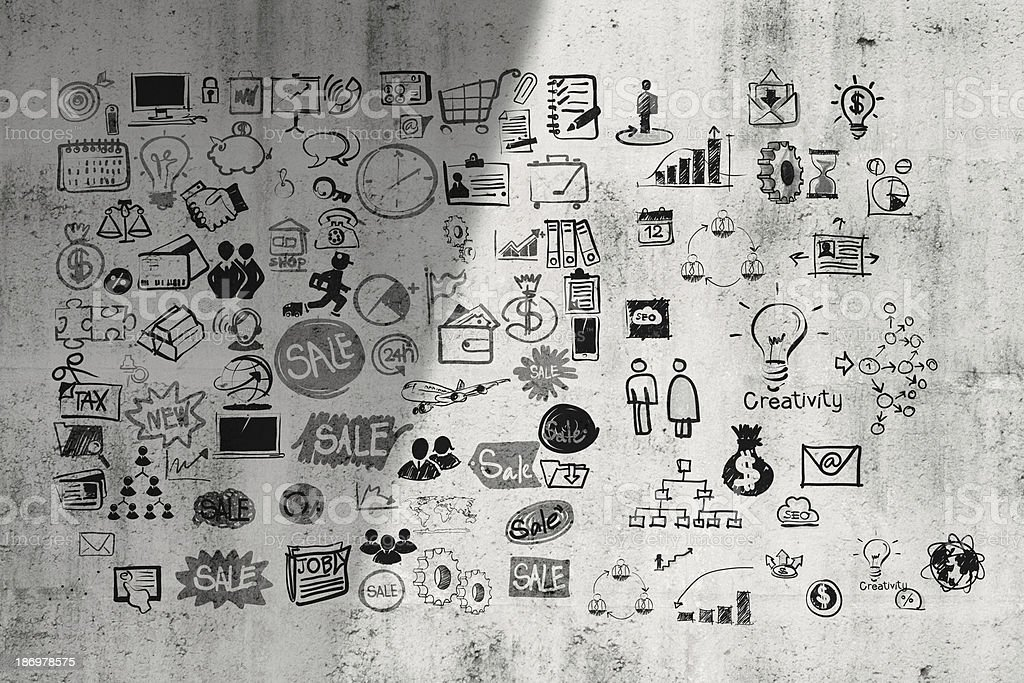 business concept on composition texture wall stock photo