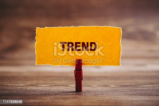 2019 TREND Business Concept on paper with office