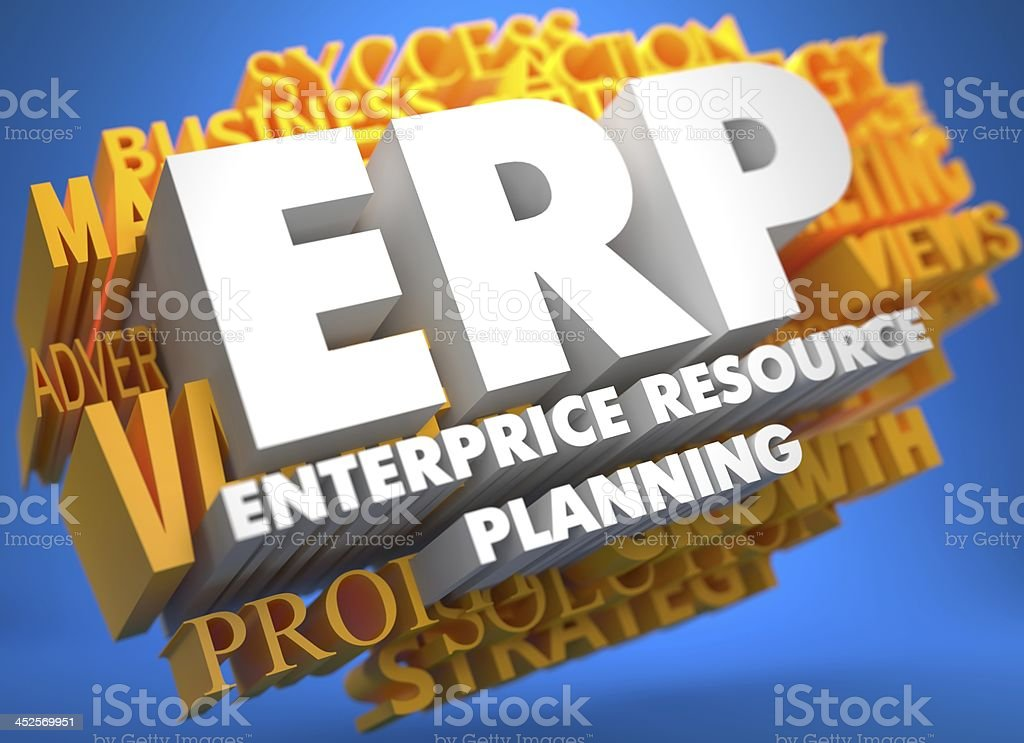 ERP. Business Concept. stock photo