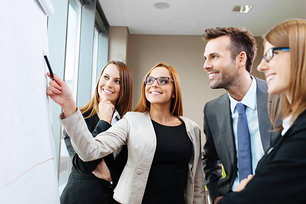 business-konzept - flipchart stock-fotos und bilder