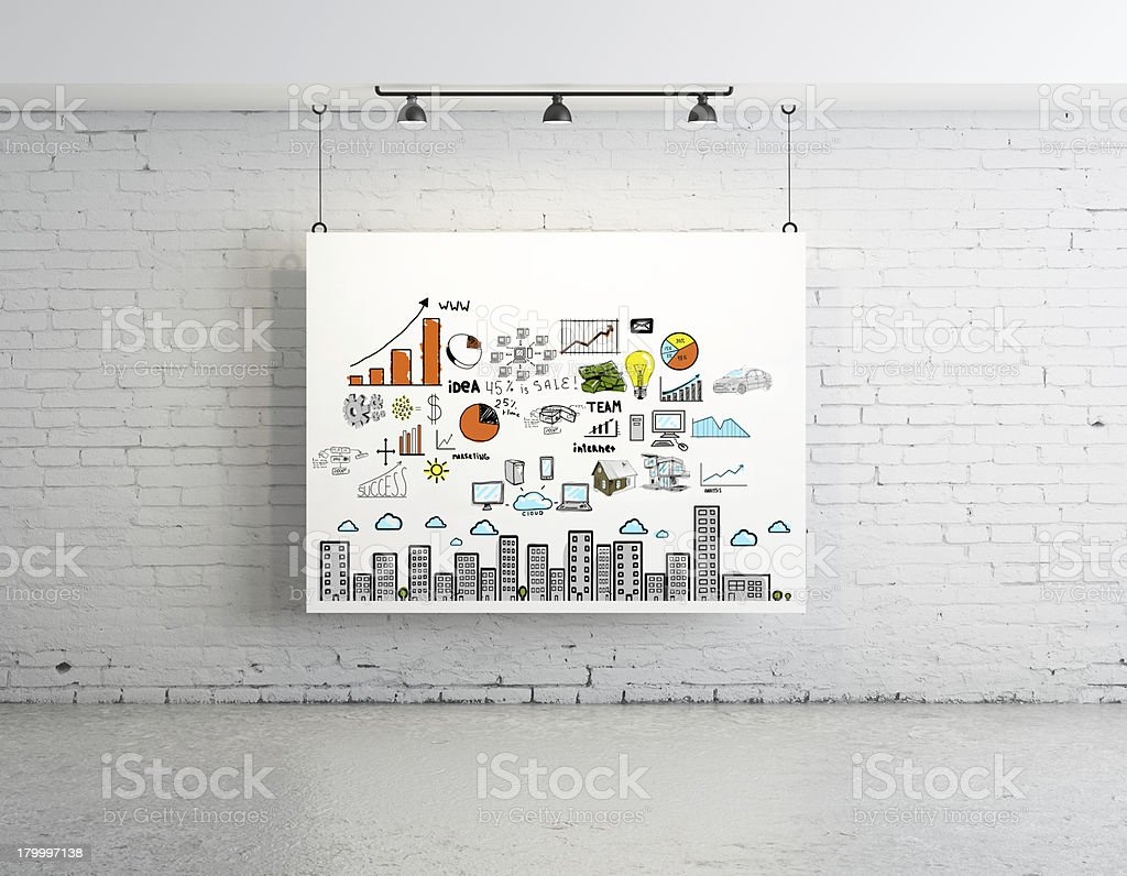 비즈니스 컨셉입니다 on 포스터 royalty-free 스톡 사진