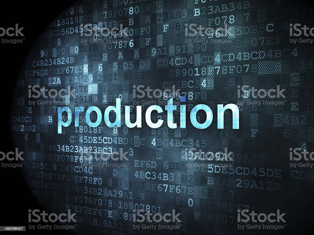 business concept: Production on digital background royalty-free stock photo