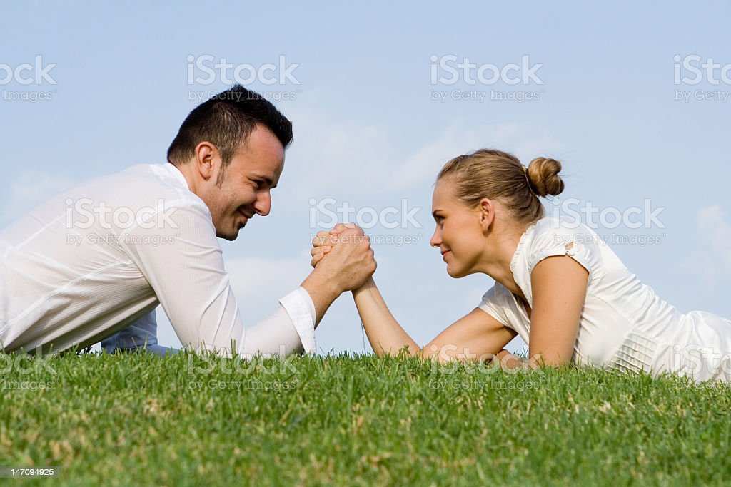 business concept - rivalry royalty-free stock photo