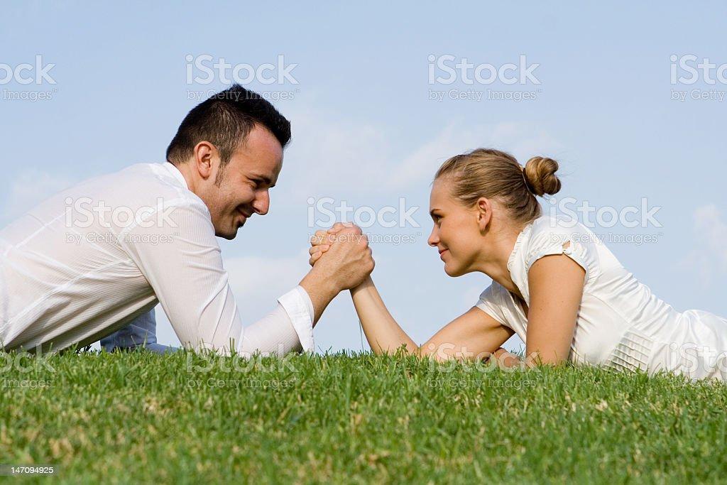 business concept - rivalry stock photo