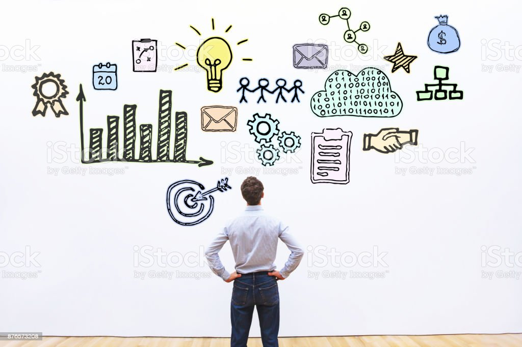 business concept sketch stock photo