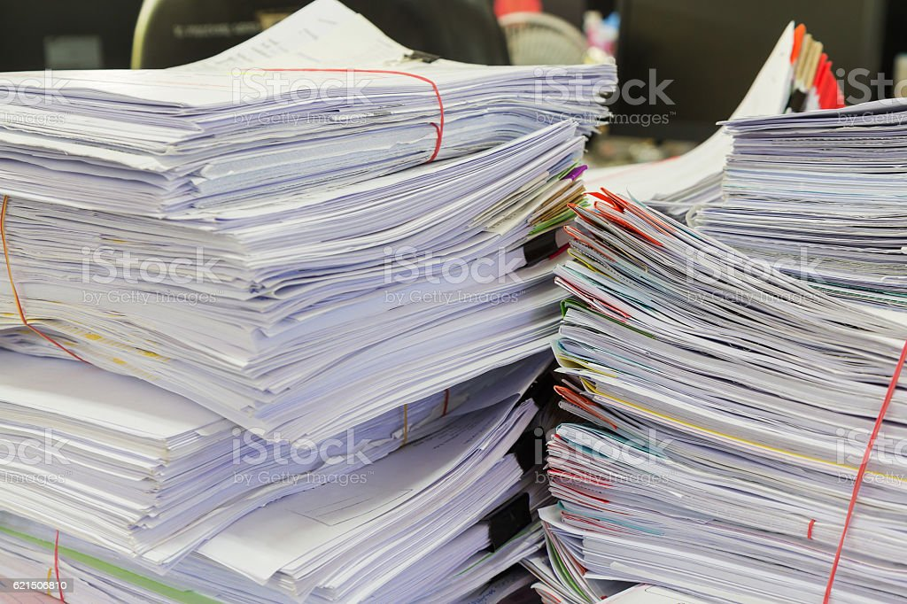 Business concept. stack of business documents on office desk Lizenzfreies stock-foto