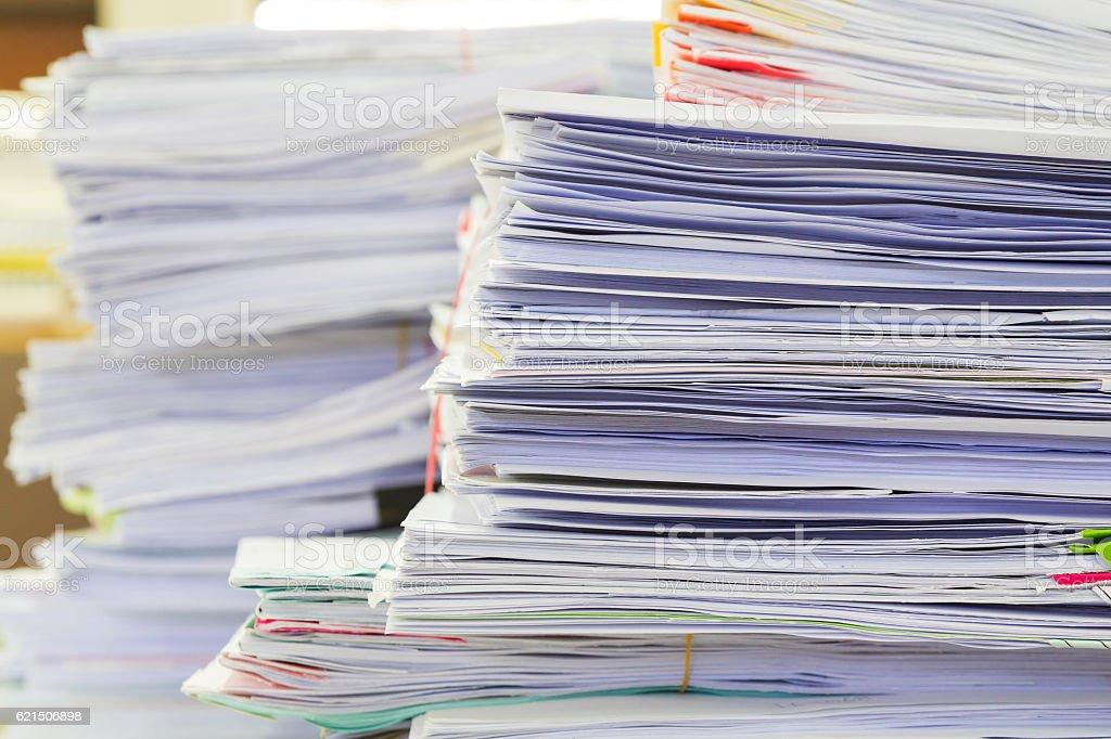 Business concept. stack of business documents on office desk foto stock royalty-free