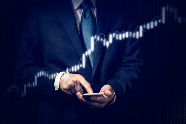 Business concept, Stock trading - foto stock